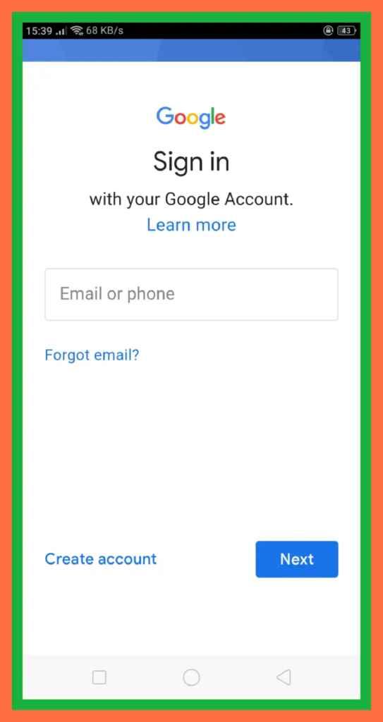 Click Create New Account