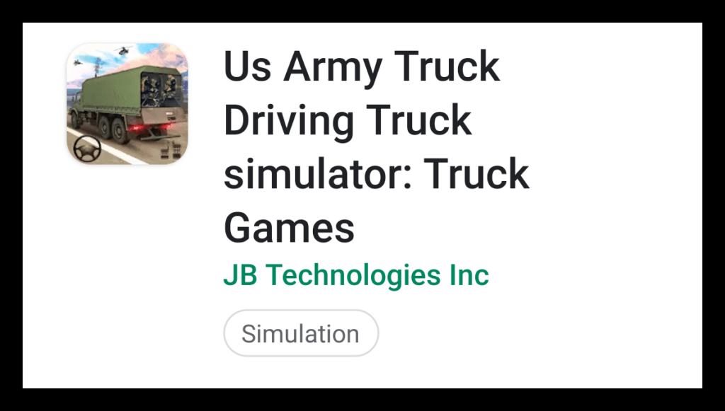 US Army Truck Driving Truck Simulator