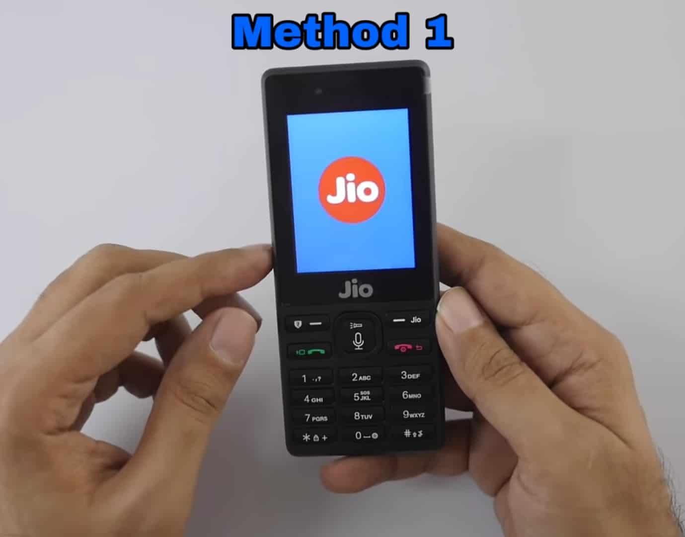 Jio Phone में WhatsApp कैसे चलाएं - 1st Method