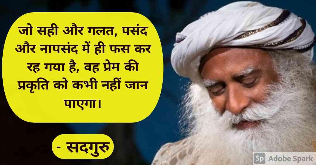 11. Sadhguru Quotes in Hindi