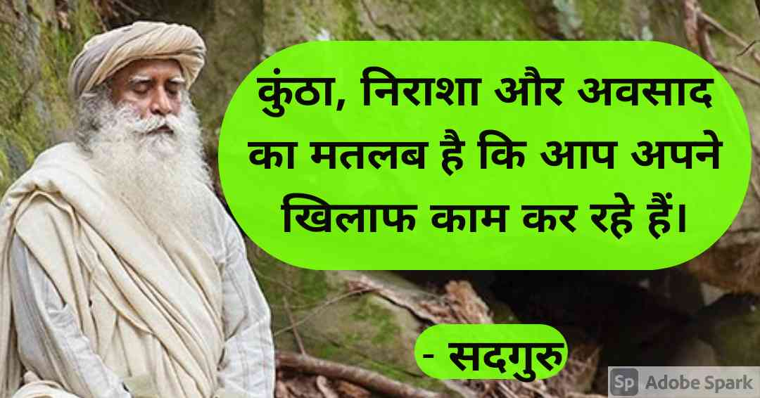 19. Sadhguru Quotes in Hindi