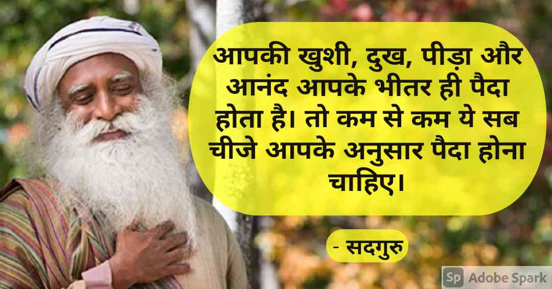 5. Sadhguru Quotes in Hindi